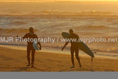 Surfing, Gilgo Beach, NY, (9-18-07)