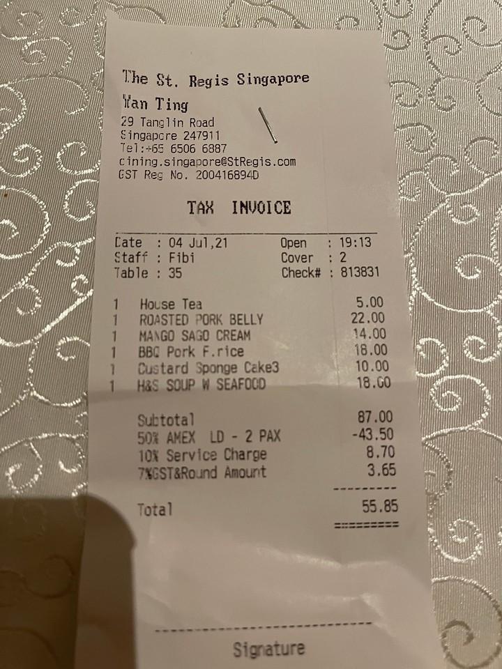 St Regis Singapore Love Dining Benefits