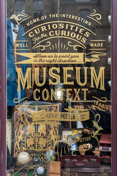 Museum Context shop in Edinburgh