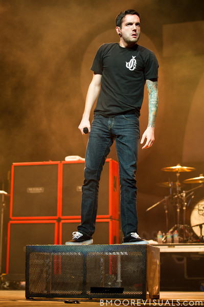 Jeremy McKinnon of A Day To Remember performs on December 3, 2011 during 97X Next Big Thing at 1-800-ASK-GARY Amphitheatre in Tampa, Florida