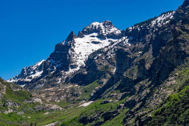 Snow Covered Ruby Mountains in Lamoille Canyon