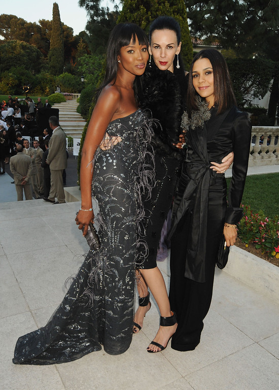 . Naomi Campbell, L\'Wren Scott, and Kadida Jones arrives at amfAR\'s Cinema Against AIDS 2010 benefit gala at the Hotel du Cap on May 20, 2010 in Antibes, France.  (Photo by Dave M. Benett/Getty Images for amfAR)