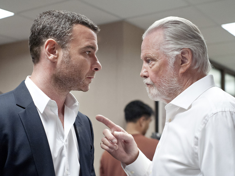 . Liev Schreiber as Ray Donovan and Jon Voight as Mickey Donovan in Ray Donovan (Photo:  Suzanne Tenner/SHOWTIME)