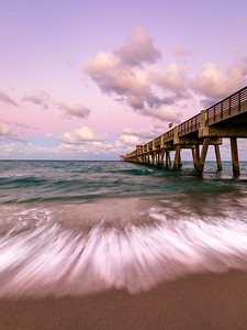 Sunset colors at the Juno Beach Pier