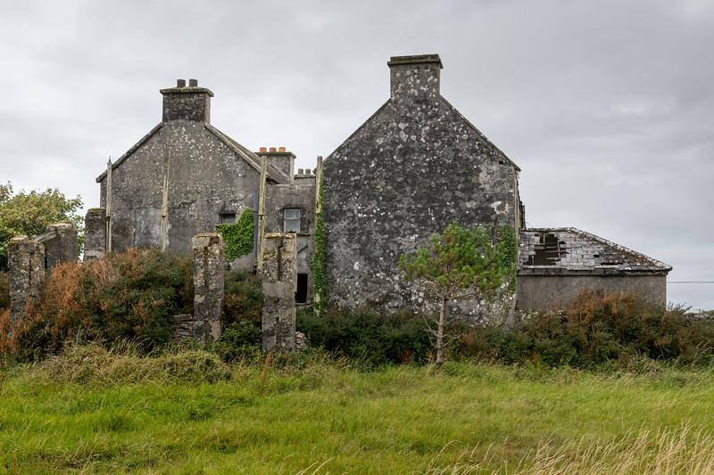 View of old castle, Kilronan, Inishmore, Aran Islands, County Galway, Ireland