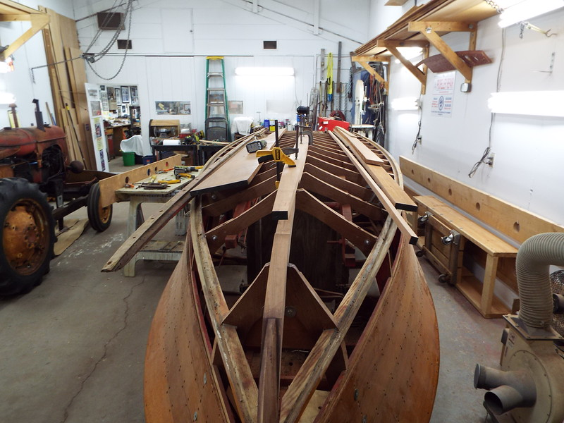 Front view of the new keel being fit.