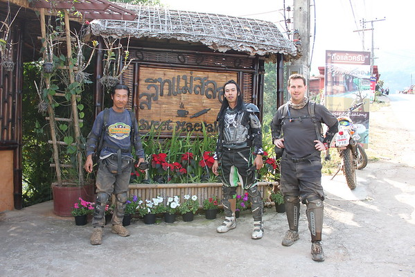 Sa-ngiam, Arm & Scott arrive at the Sweet Mae Salong Coffee shop for a latte