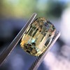 4.06ct Yellow-Chartreuse Sapphire with GIA, No-Heat 11