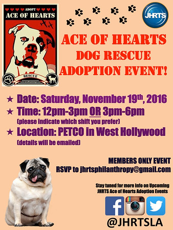JHRTS  Ace of Hearts Dog Rescue Philanthropy (11/19/16)