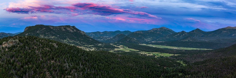 The Rockies from Trail Ridge Road in Summer