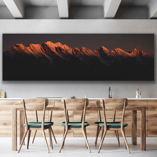 'Alpenglow' Canvas Wrap or Float Mount Metal Print