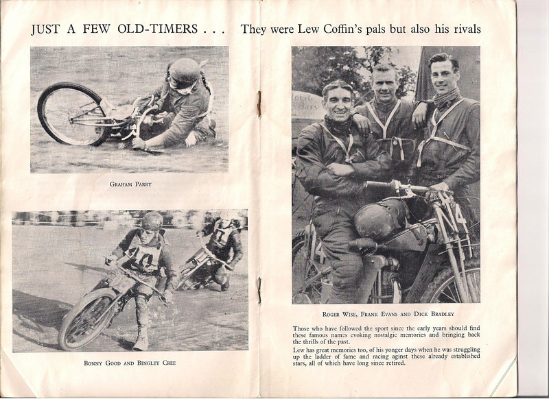 Grass Track Racing Program with Bingley Cree , Lew Coffin (Photo courtesy of Steve Hayden Bournemouth England) Steve is the grandson of Charlie Hayden, one of Dad's old racing pals).