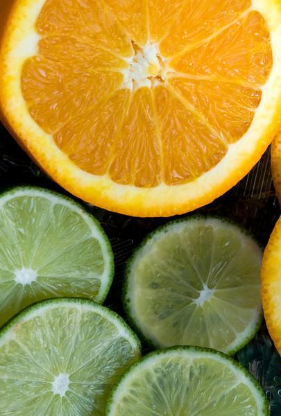 Fruits Oranges, lime