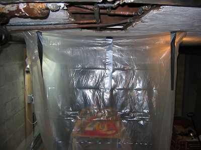 Varathane basement spray booth