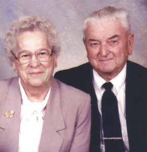 Marie Stang Burrer and her second husband, Earl Burrer, were married in 1991.