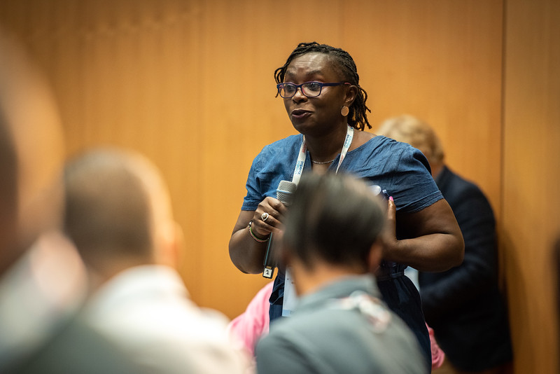 22nd International AIDS Conference (AIDS 2018) Amsterdam, Netherlands.   Copyright: Steve Forrest/Workers' Photos/ IAS  Photo shows: HIV Cure Research with the Community Workshop: Cure Research in Paediatric Population and Women.