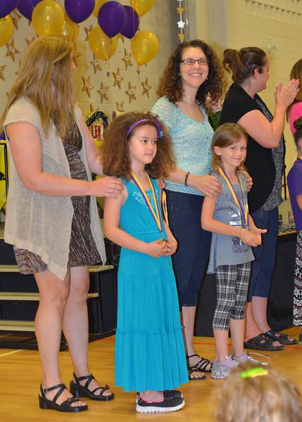 "Tessa receives the ""Leadership"" award"