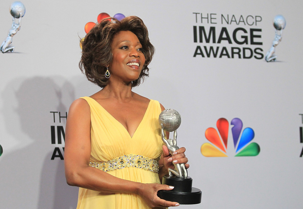. LOS ANGELES, CA - FEBRUARY 01:  Actress Alfre Woodard, winner of Outstanding Actress in a Television Movie, Mini-Series or Dramatic Special for \'Steel Magnolias,\' poses in the press room during the 44th NAACP Image Awards at The Shrine Auditorium on February 1, 2013 in Los Angeles, California.  (Photo by Frederick M. Brown/Getty Images for NAACP Image Awards)