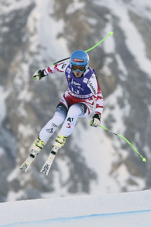 . Elisabeth Goergl of Austria takes 2nd place during the Audi FIS Alpine Ski World Cup Women\'s Downhill on December 20, 2014 in Val d\'Isere, France. (Photo by Alain Grosclaude/Agence Zoom/Getty Images)