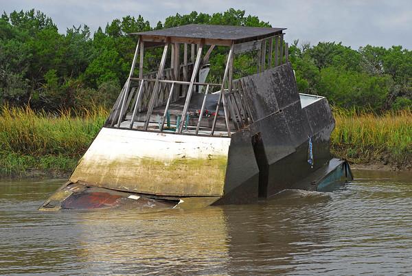 Shipwreck in the Frederica River 10-24-07 thru 10-03-10