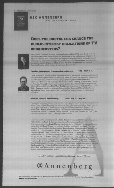 Daily Trojan, Vol. 133, No. 34, March 02, 1998