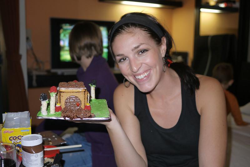 Shawna's creative gingerbread house