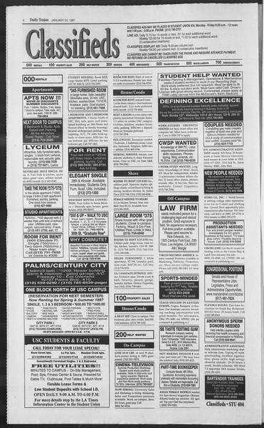 Daily Trojan, Vol. 130, No. 10, January 24, 1997