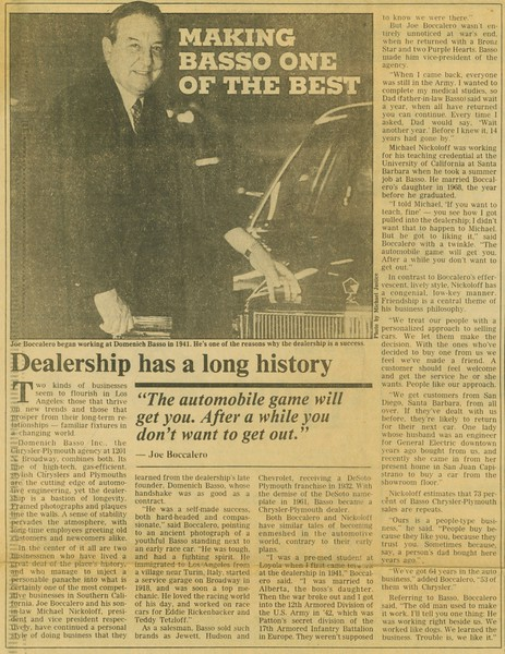 1986, LA Herald Examiner Article