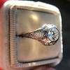 .80ct Vintage Old European Cut Diamond Dome Ring 8