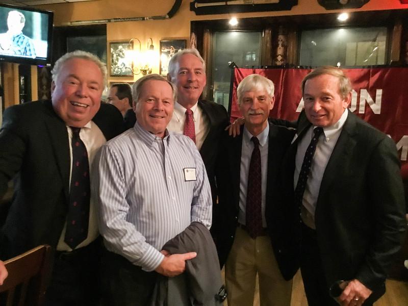 Ed Wallace P'08, '09, '10, Don McCarthy P'05, Kevin Driscoll '72, P'08, Peter Evans P'98, and Skip Flanagan GP '16, '19