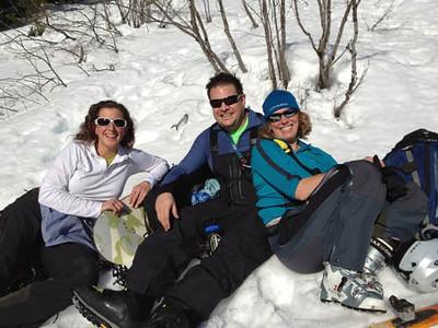 Lynn, Sean, and Susan on Granite, January 2013
