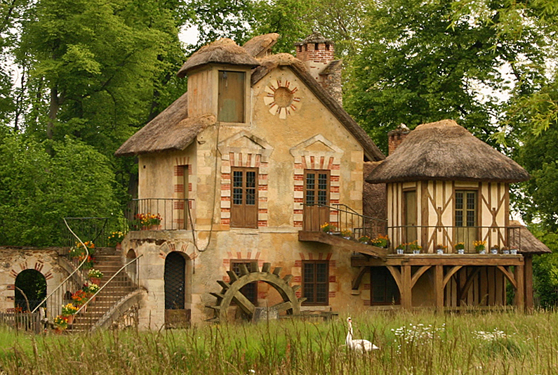 "One of the house at the Petit hameau de la Reine (""Little hamlet of the Queen"")"