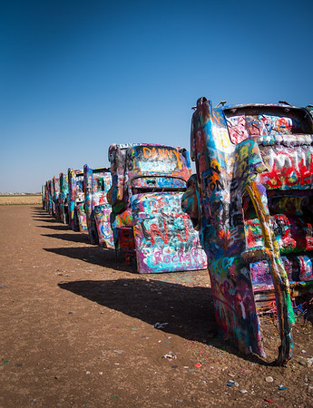 Cadillac Ranch, Amarillo, Texas 2018