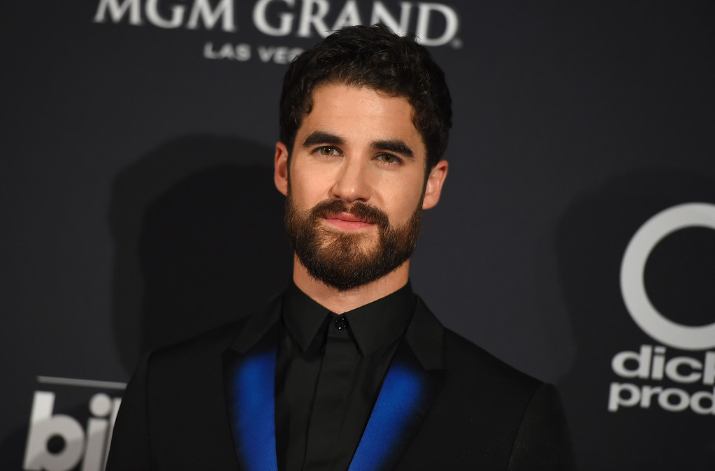 . Darren Criss poses in the press room at the Billboard Music Awards at the MGM Grand Garden Arena on Sunday, May 20, 2018, in Las Vegas. (Photo by Jordan Strauss/Invision/AP)