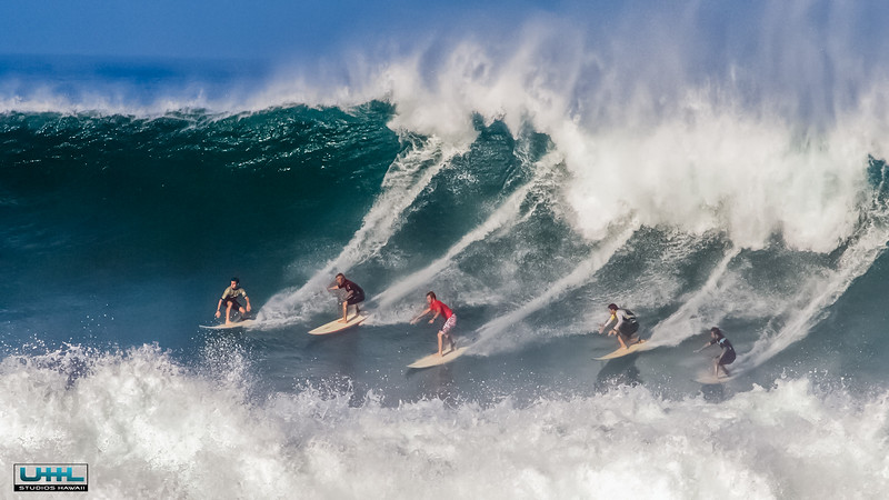 Surfing Waimea