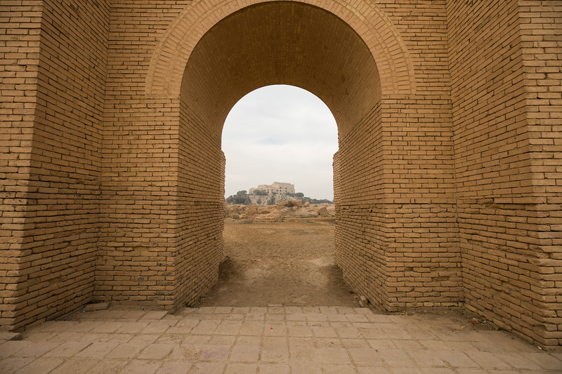 In 1983 Saddam Hussein ordered the rebuilding of Babylon. As most Iraqi men were fighting in the bloody Iran-Iraq war, Saddam brought in thousands of Sudanese workers to lay brand new yellow bricks over where the Palace of Nebuchadnezzar II (king of Babylon from 605 BC to 562 BC) had stood.