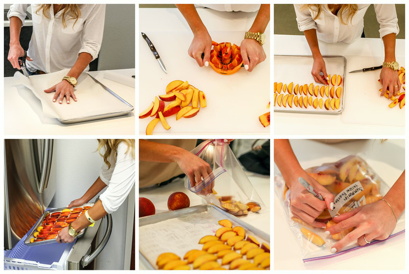 Step-by-step How to Freeze Peaches