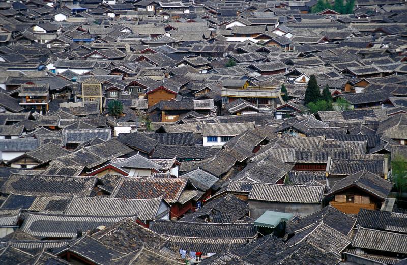 Rooftops of Lijiang Town, Yunnan