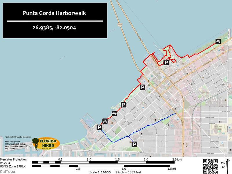 Punta Gorda Harborwalk Trail Map
