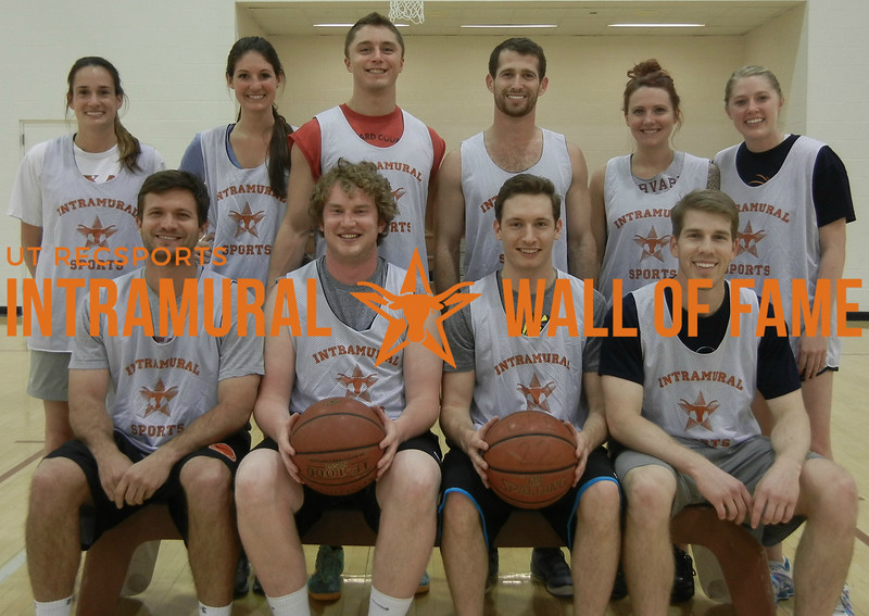 BASKETBALL Graduate Coed Champion  Really Creative  R1: Will Thanheiser, William Mabry, Colin Norman, Benjamin Chrisman R2: Sarah Lancaster, Courtney Hammond, Kelley Cox, Scott Becker, Jeavon Ehler, Kayleigh McNelis Not Pictured: Paul Knowlton