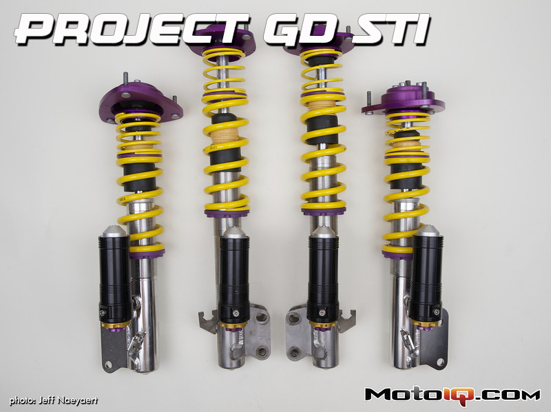 KW suspensions, project Subaru GD STi, clubsports