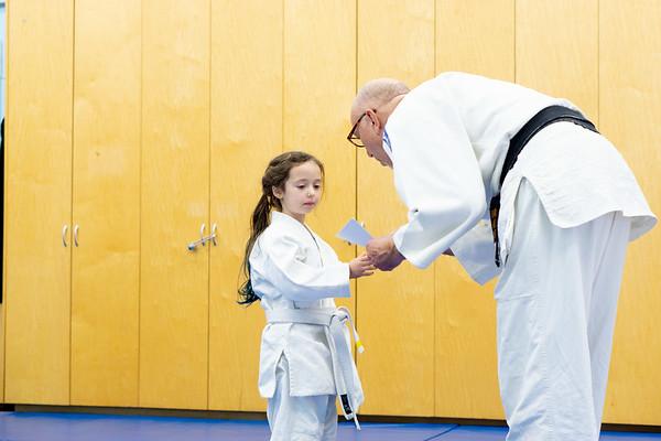 Alexandra's Judo class at Ecole Bilingue, Dec 2018