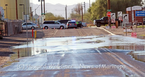 Water main break on Honeycutt 11-14-2016