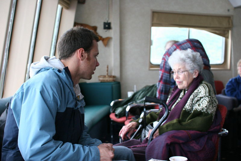 young man and his grandmother - she takes each grandchild on the trip of their choice