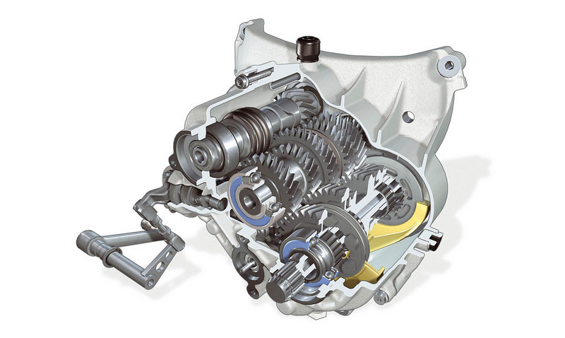 R1200GS gearbox cutaway scematic drawing