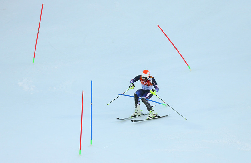 . Bode Miller of the United States competes during the Alpine Skiing Men\'s Super Combined Downhill on day 7 of the Sochi 2014 Winter Olympics at Rosa Khutor Alpine Center on February 14, 2014 in Sochi, Russia.  (Photo by Alexander Hassenstein/Getty Images)