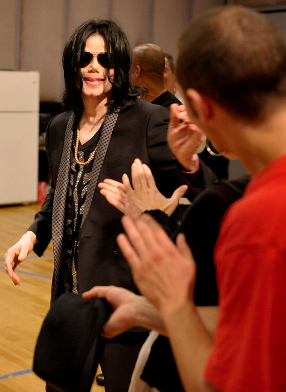. In this May 6, 2009 image released courtesy of Michael Jackson, pop star Michael Jackson is shown in Los Angeles during rehearsals for his upcoming concert in London. Jackson, 50, died in Los Angeles on Thursday, June 25, 2009. (AP Photo/Courtesy of Michael Jackson)