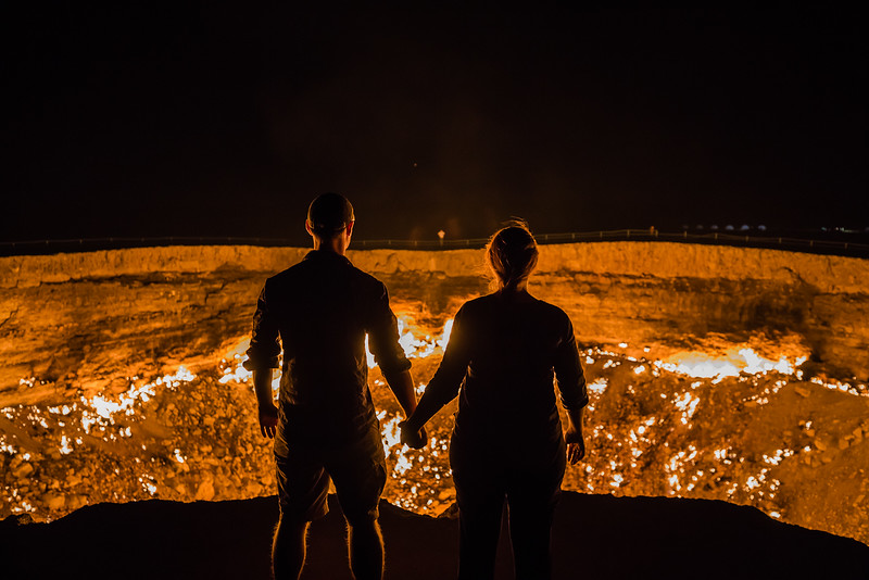 Darvaza gas crater- Turkmenistan