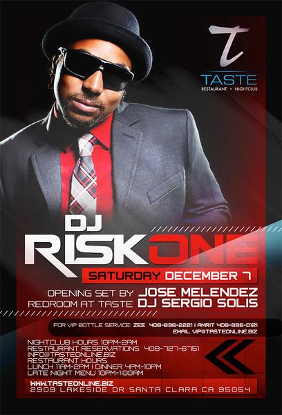 DJ Risk One @ Taste Restaurant & Nightclub 12.7.13