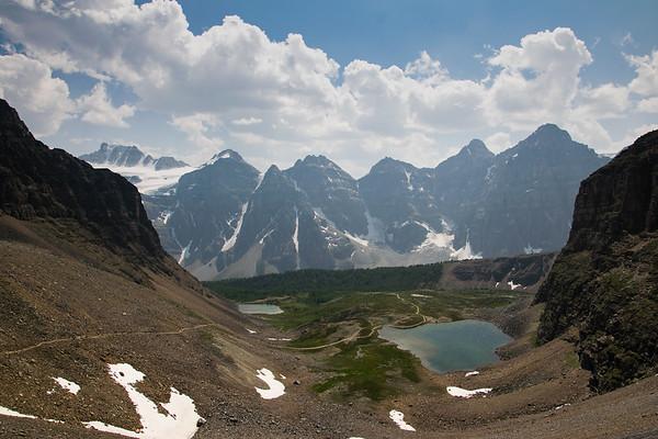 Moraine Lake and Sentinel Pass
